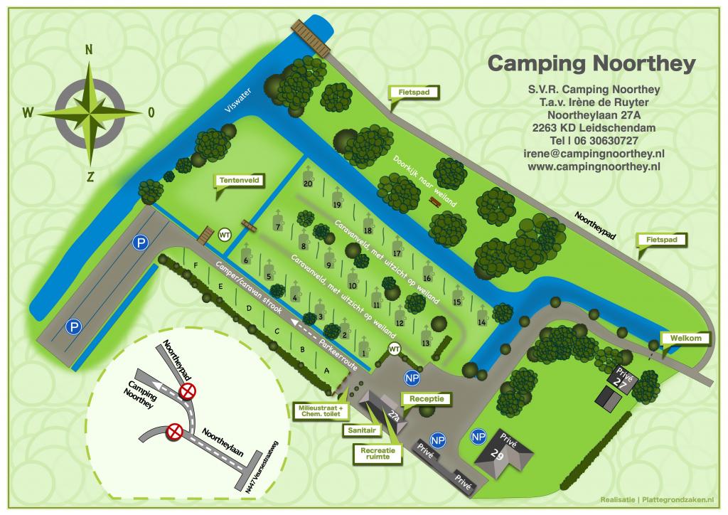 plattegrond camping Noorthey Leidschendam